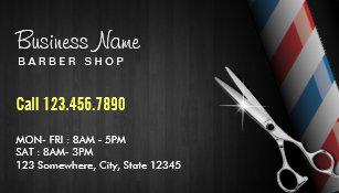 Barber shop business cards zazzle barber shop professional dark wood silver scissor business card colourmoves