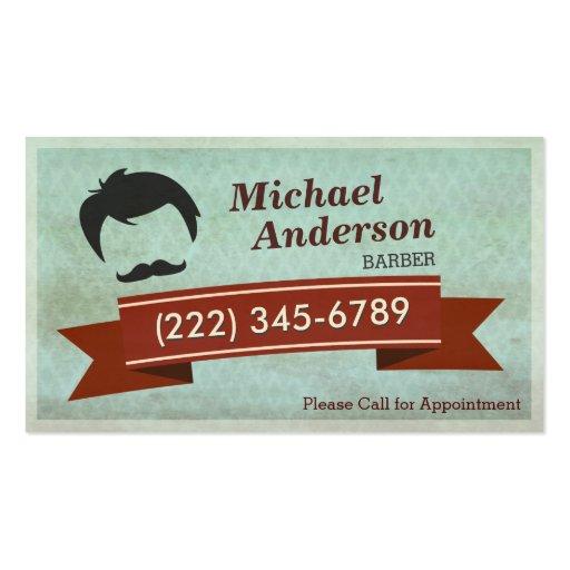 Barber Shop Salon  - Vintage Appointment Card Business Card (front side)