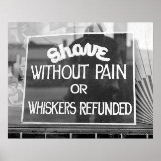 Barber Shop Sign, 1942. Vintage Photo Poster