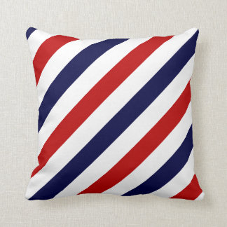 Barber shop stripes | Red white blue Pillow