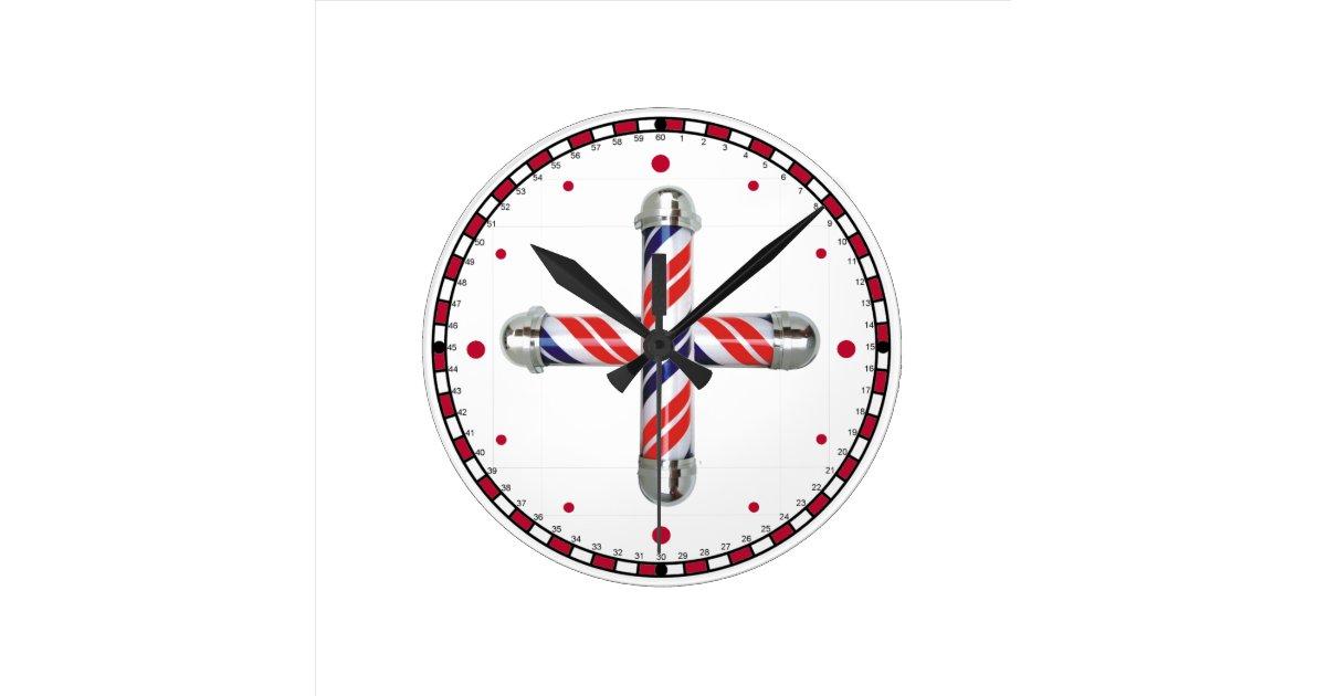 barber shop wall clock zazzle. Black Bedroom Furniture Sets. Home Design Ideas