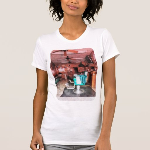 Barber Shop With Green Barber Chairs T Shirt T-Shirt, Hoodie, Sweatshirt