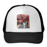 Barber Shop With Green Barber Chairs Trucker Hats