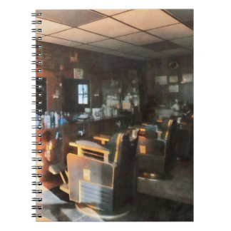 Barber Shop With Sun Streaming Through Window Notebook