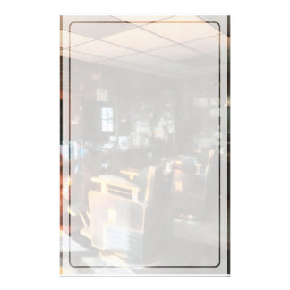 Barber Shop With Sun Streaming Through Window Stationery
