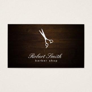 Barber Shop Wood Background Vignette Business Card