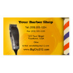 Barber Shop yellow design Business Card Templates