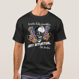 Barber Skull 5: Hairy Situation T-Shirt