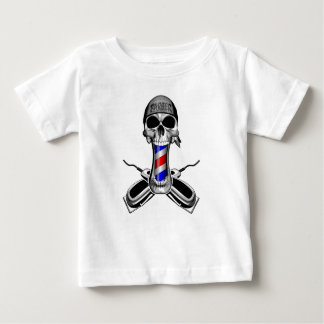 Barber Skull: Crossed Hair Clippers Baby T-Shirt