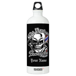 Barber Skull: Shaving Face Water Bottle
