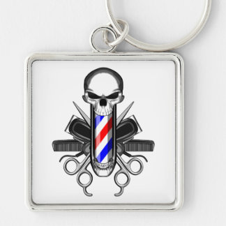 Barber Skull: Tools of the Trade Keychain