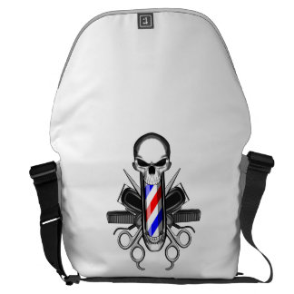 Barber Skull: Tools of the Trade Messenger Bags