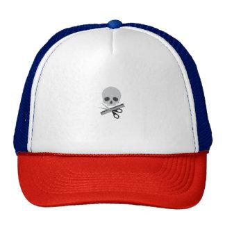 Barber skull trucker hat