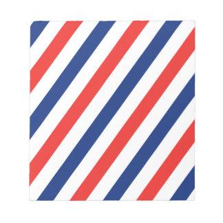 Barber Stripes Notepad
