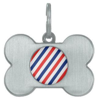 Barber Stripes Pet ID Tag