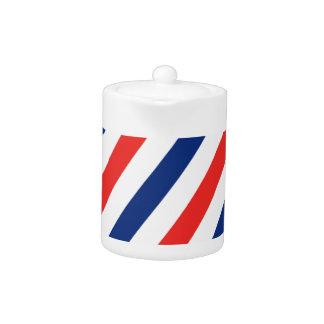Barber Stripes Teapot