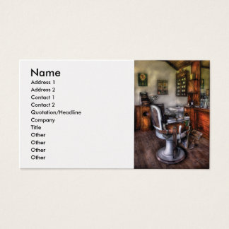 Barber - The Barber Chair Business Card