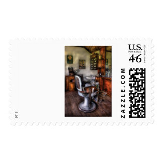 Barber - The Barber Chair Postage Stamps