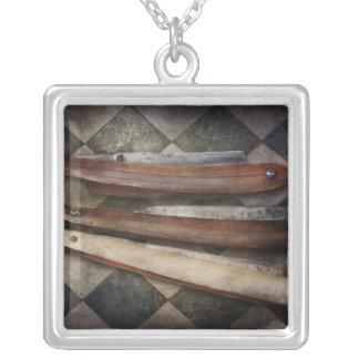Barber - The Razor Square Pendant Necklace
