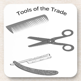 Barber Tools of The Trade Beverage Coaster