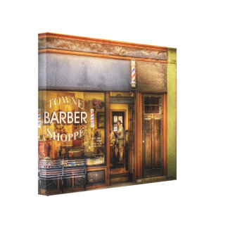 Barber - Towne Barber Shop Gallery Wrap Canvas
