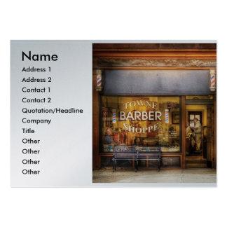 Barber - Towne Barber Shop, Name, Address 1, Ad... Large Business Card