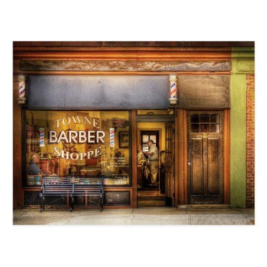Barber - Towne Barber Shop Postcard