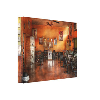 Barber - Union, NJ - The modern salon Gallery Wrap Canvas