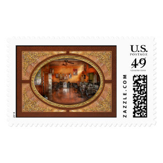 Barber - Union, NJ - The modern salon Postage Stamps
