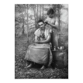 Barber - WWII - GI Haircut Card