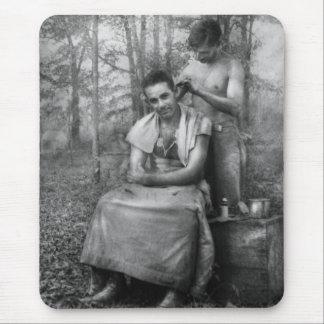 Barber - WWII - GI Haircut Mouse Pad