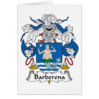Barberena Family Crest Card