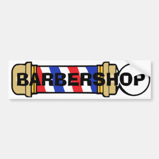 Barbería Pegatina De Parachoque
