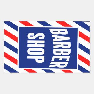 Barbería Pegatina Rectangular