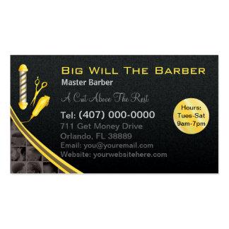 Barbería (polo, podadoras adaptables del tarjetas de visita