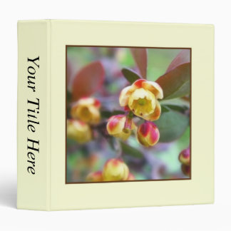 Barberry Flowers 3 Ring Binder