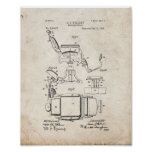 Barber's Chair Patent - Old Look Poster