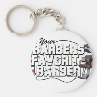 Barbers Favorite Barber Basic Round Button Keychain