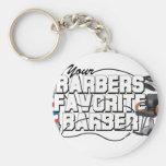 Barbers Favorite Barber Keychain