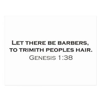 Barbers / Genesis Postcard