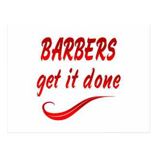 Barbers Get it Done Postcard