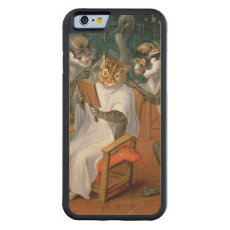 Barber's shop with Monkeys and Cats Carved Maple iPhone 6 Bumper Case