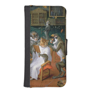 Barber's shop with Monkeys and Cats iPhone SE/5/5s Wallet