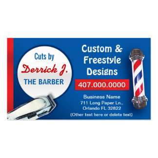 Barbershop Barber (Barber pole and clippers) Business Card