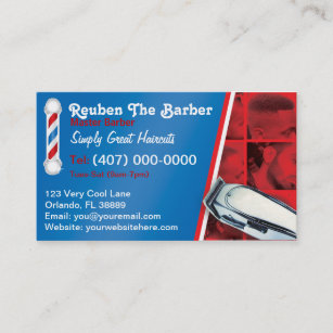 Barber business cards 600 barber business card templates barbershop barber barber pole and clippers business card colourmoves