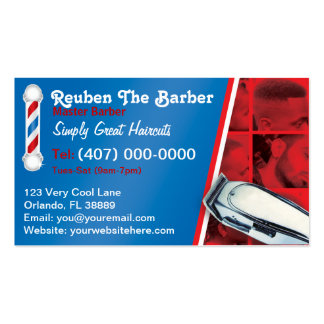 Barbershop Barber (Barber pole and clippers) Double-Sided Standard Business Cards (Pack Of 100)