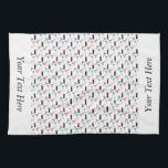"""Barbershop Barber Pattern Personalized Name Hand Towel<br><div class=""""desc"""">This is a wonderful gift idea for someone special, for a special celebration, a birthday party, Christmas present or any gift giving occasion. This unique gift can be customized to fit your needs. Images can be added, changed or moved. Text can be changed to a different font, moved, added, or...</div>"""