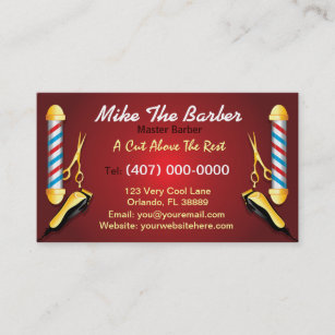 Barber business cards 600 barber business card templates barbershop barber pole and clippers business card flashek Gallery