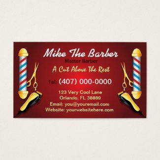 Barbershop (Barber pole and clippers)