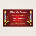 "Barbershop (Barber pole and clippers) Business Card<br><div class=""desc"">This is a CUSTOMIZABLE barbershop business card design. The design is represented by barbershop colors of blue and red. All artwork was created and illustrated by Dale Arthur of whizcreations.com.</div>"